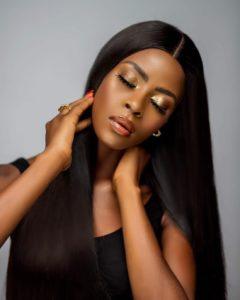 BB Naija Khloe Oozes Gorgeousness In Black Silky Hair