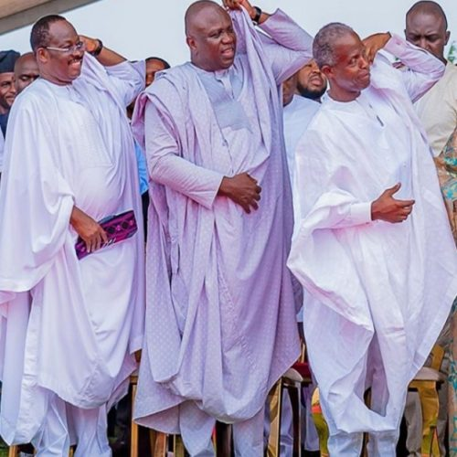 Any Caption For This? Ajimobi, Ambode And Osinbajo Flaunts Their Gallant Agbada