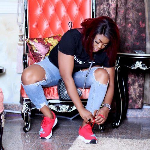 Must See! Photo Of Funke Akindele Backing Her Twins