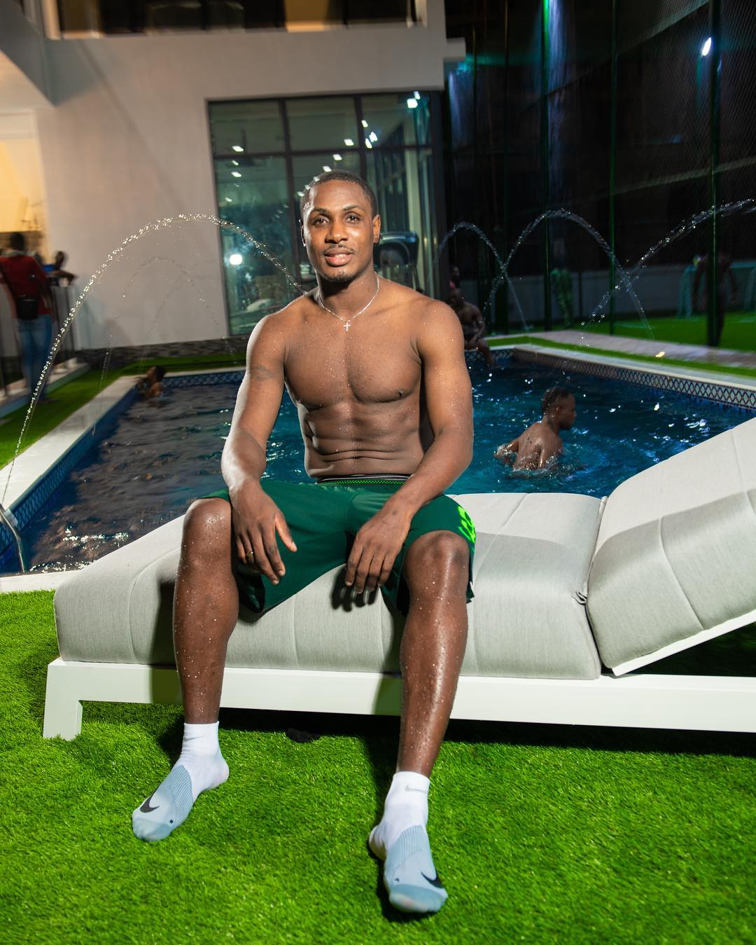 Hot! Hot! Jude Ighalo Shows Off His Buff Body In Sexy Shirtless Pics