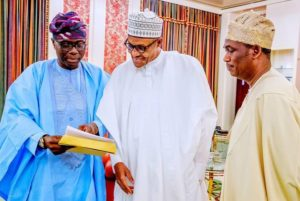 Sanwo-olu And Hamzat Pay Courtesy Visit To Buhari