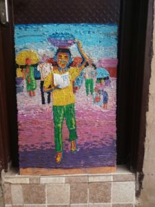 Meet Nigerian Lady That Makes Creative Art Works With Straws