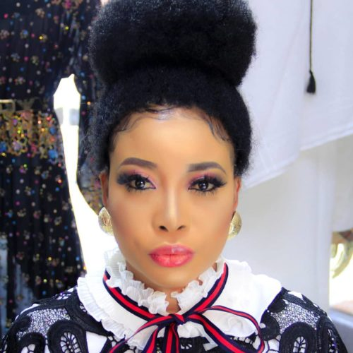 Lizzy Anjorin Sizzles In Shimmery Pink Smokey Eye Makeup