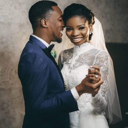 Akah Nnani And Claire Idera Spell Romance In Their Beautiful White Wedding Photos