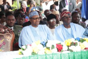 #PMBInLagos: Sanwo-olu Spotted With Buhari At The Commissioning Of Ayinke House