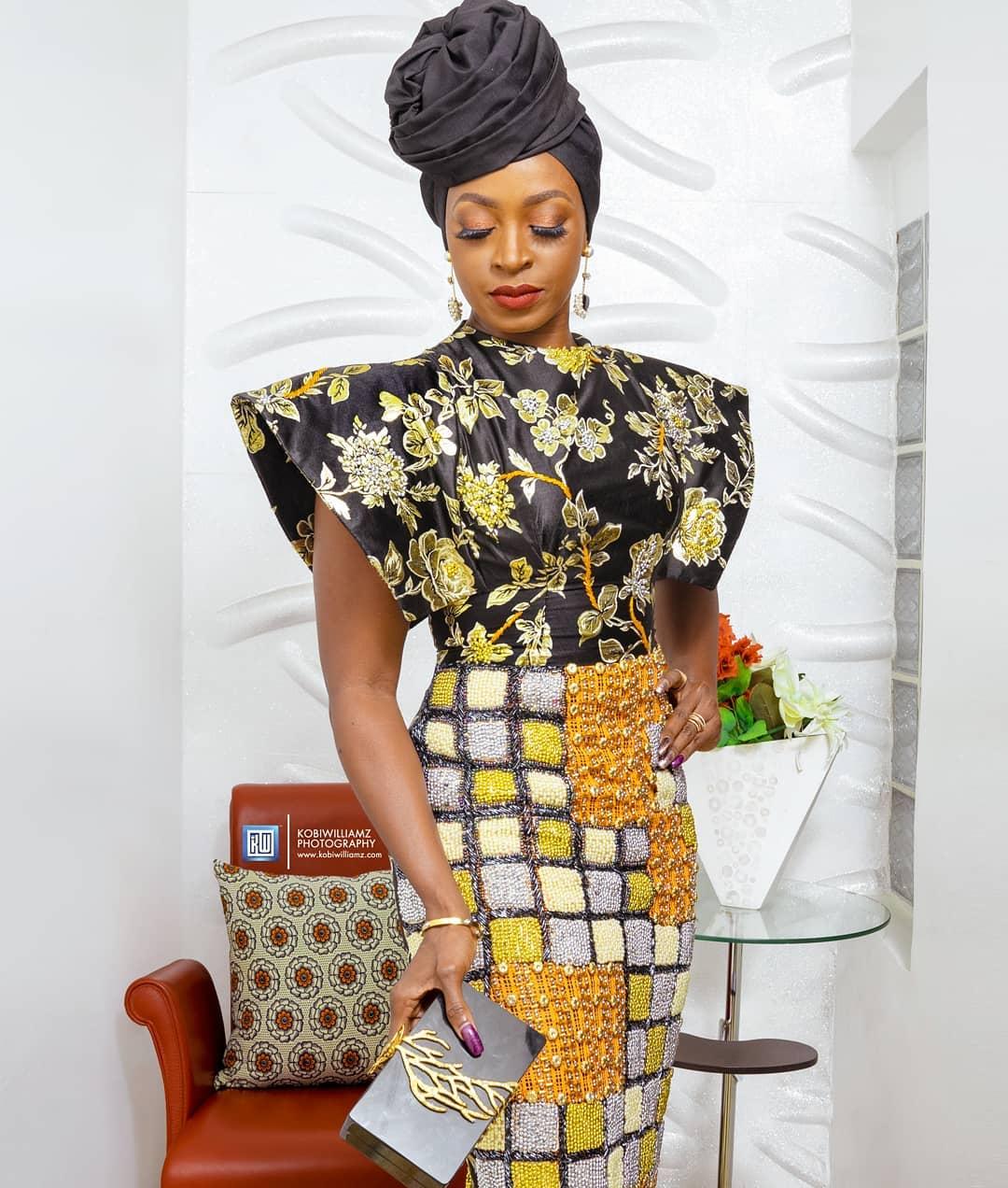 Kate Henshaw Dazzles In Yolanda Okereke's Floral Embellished Dress
