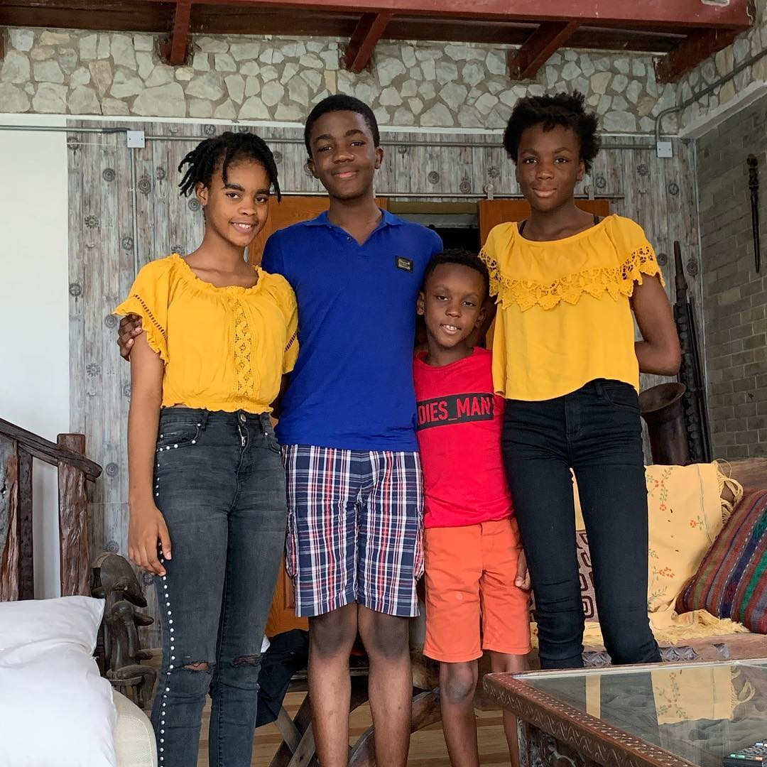 Kunle Afolayan Shares Adorable Photo Of His 4 Children