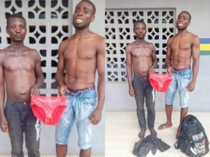 Police Forces Men Who Stole Panties To Strike A Pose With Them