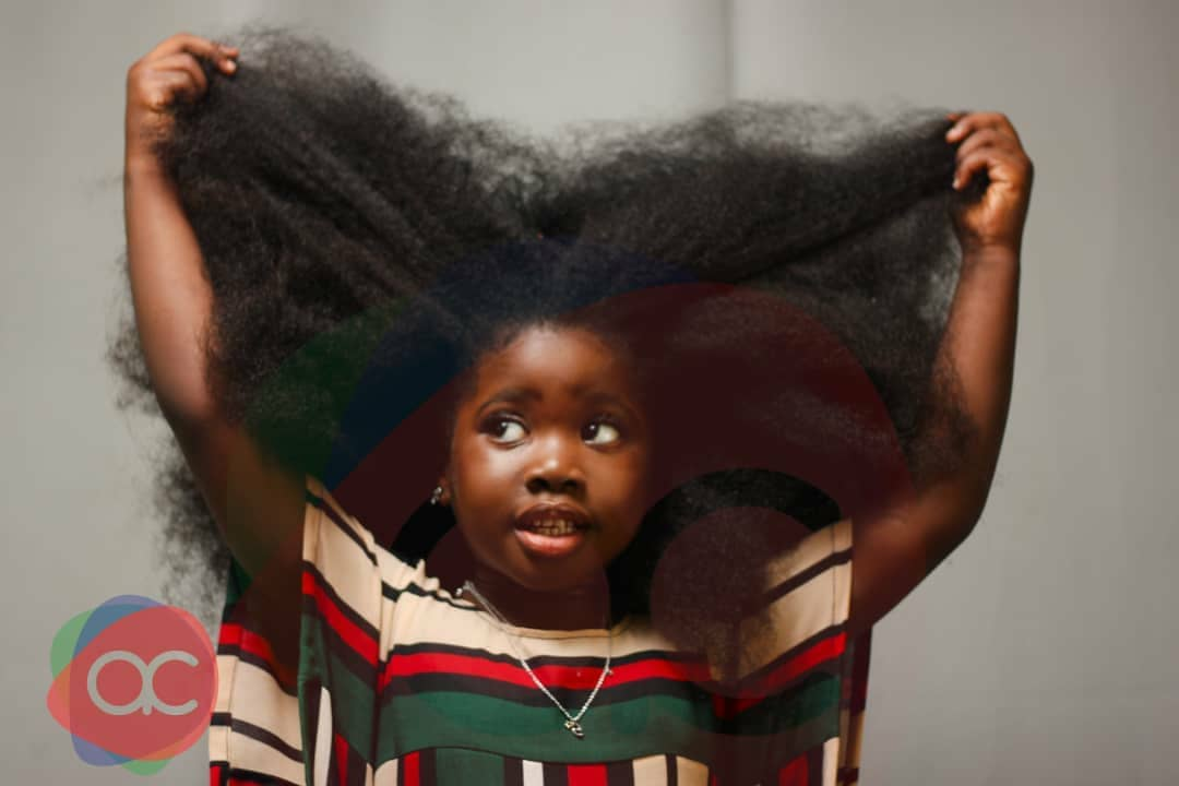 Meet Tolani, 4-year-old Nigerian Girl With Beautiful Long Natural Hair