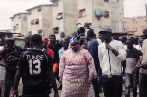 Teniola Apata Rocks Iro And Buba For Video Shoot