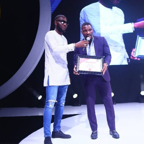 Tobi Bakre Wins Award For Most Popular BB Naija Housemate At Neclive7