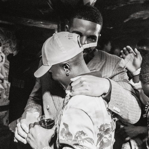 That Moment Drake Hugged And Kissed Wizkid On Stage (Video)