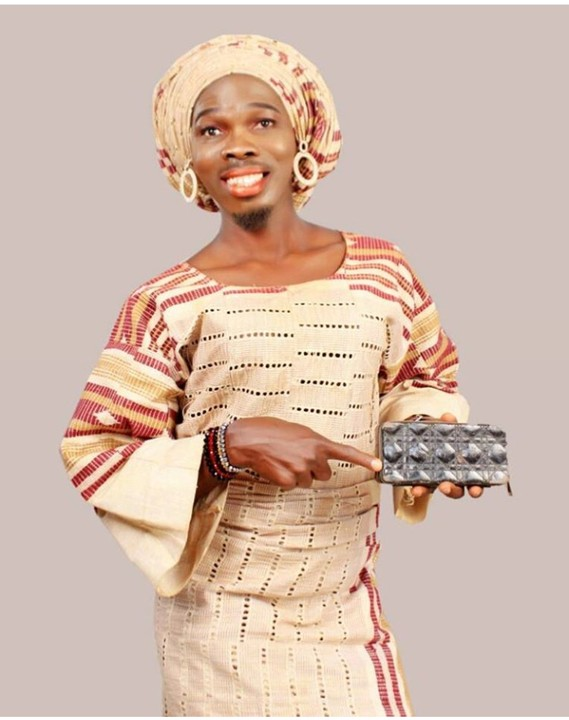 Lol! Yoruba Actor, Ijebuu Dresses Like A Lady, Rocks Aso Ebi