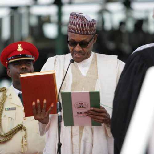 (Photos) Buhari Sworn In For Second Term