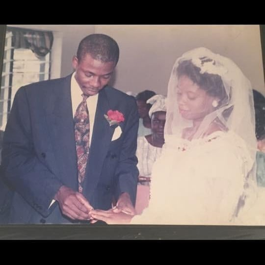 Checkout These Throwback Photos Of Ibikunle Amosun And His Wife Funsho At Their Wedding