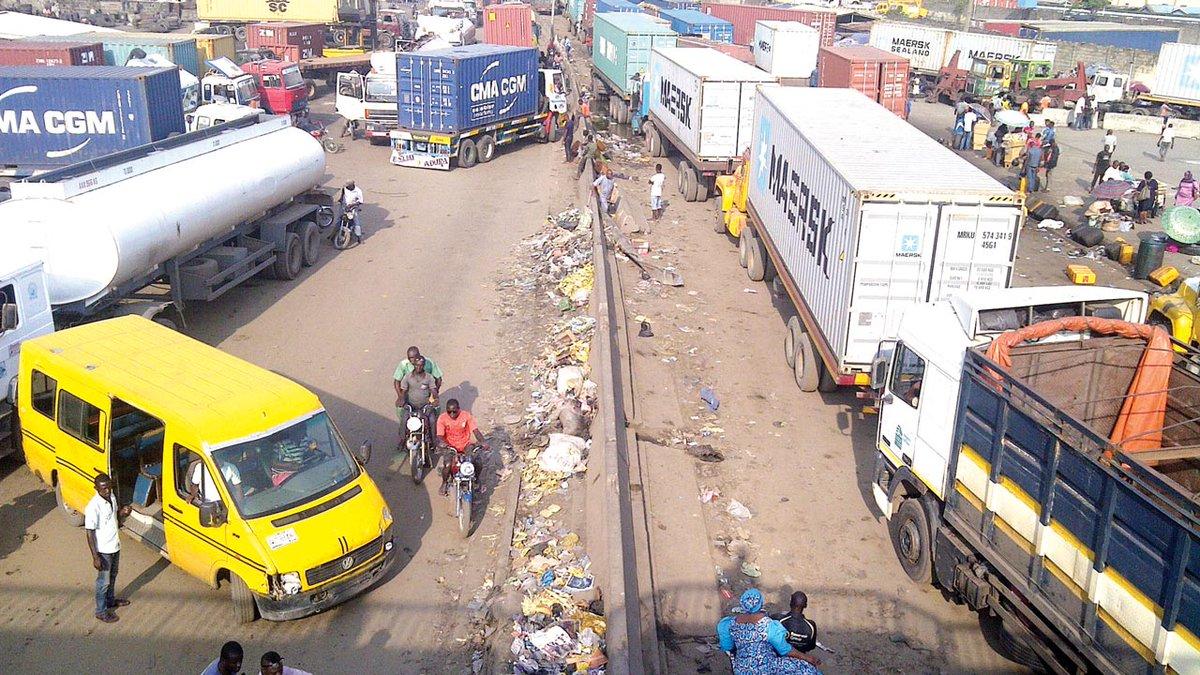 Just In: Buhari Orders Immediate Removal Of All Trucks In Apapa