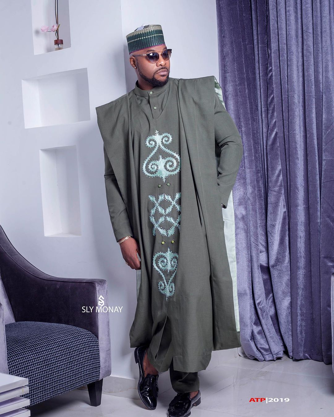 Bolanle Ninalowo Rocks Agbada For His 39th Birthday
