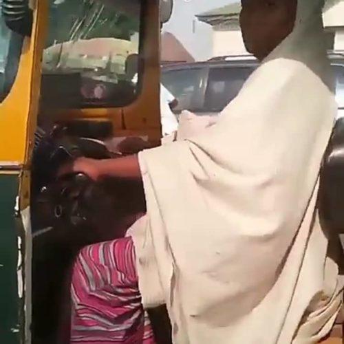 (Video) Hijabi Lady Spotted Riding Keke Napep