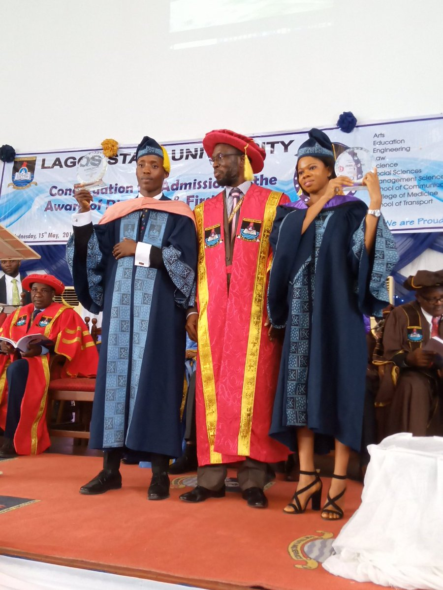 Meet Lagos State University's Two Best Graduating Students