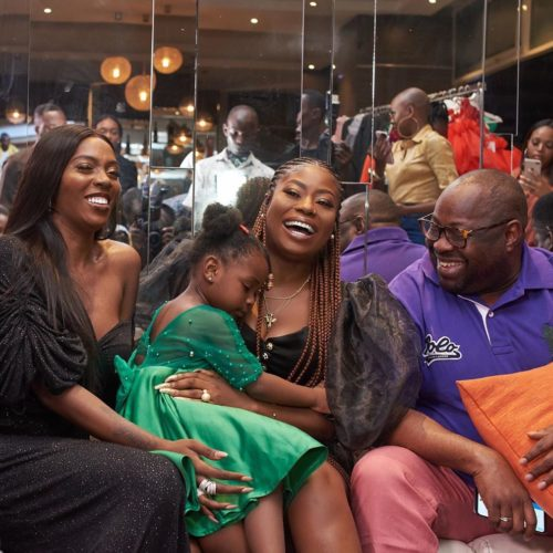 Tiwa Savage, Dele Momodu, Sophia And Daughter, Imade In Adorable Photo