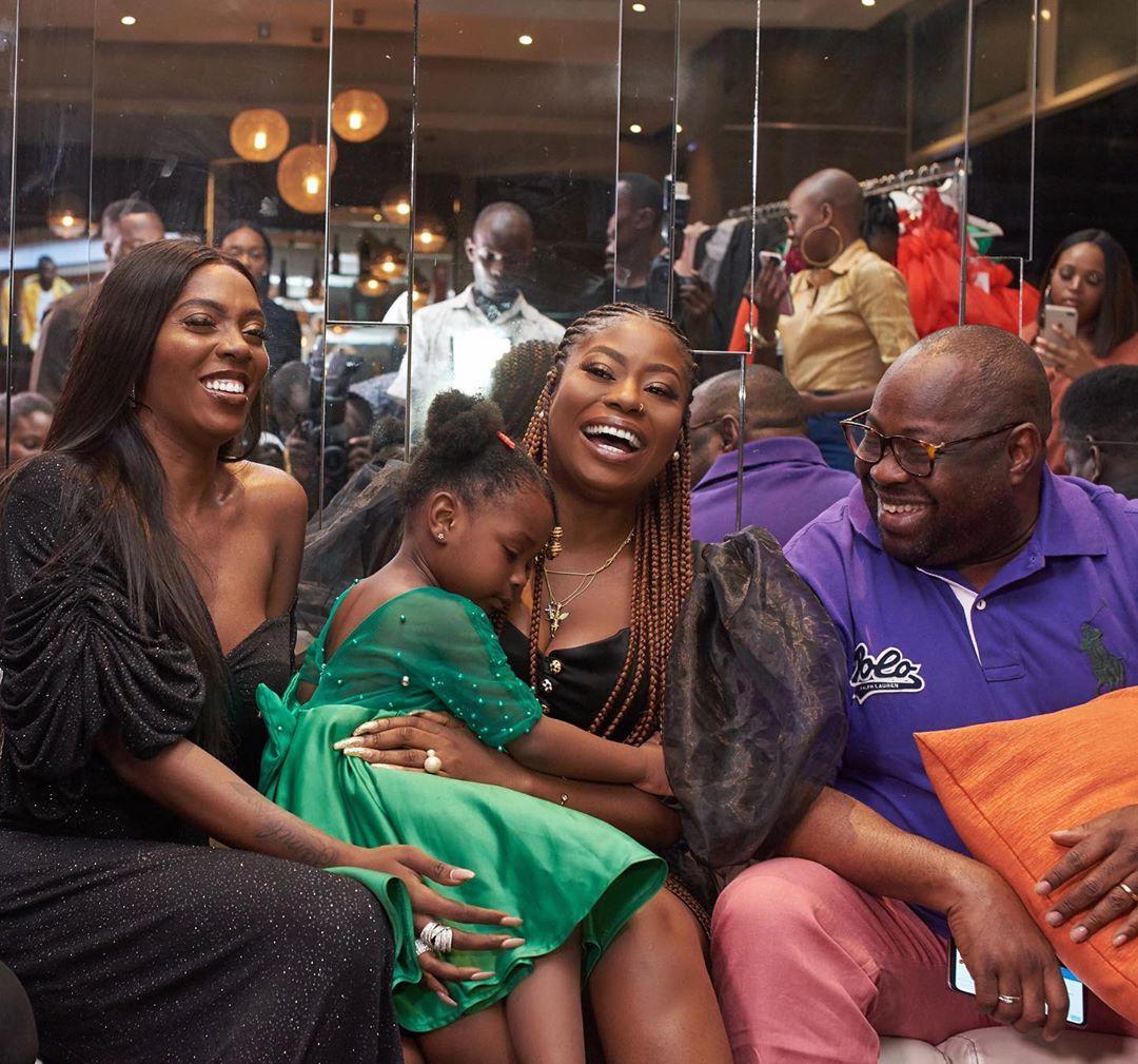 Tiwa Savage, Dele Momodu, Sophia And Daughter, Imade In Adorable Photo