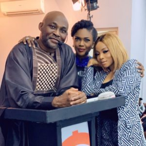 Toke Makinwa, Richard Mofe-Damijo And Omoni Oboli Pictured Together