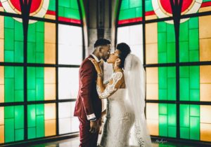 Super Eagles Star, Wilfred Ndidi Is Married! Beautiful Photos From His White Wedding