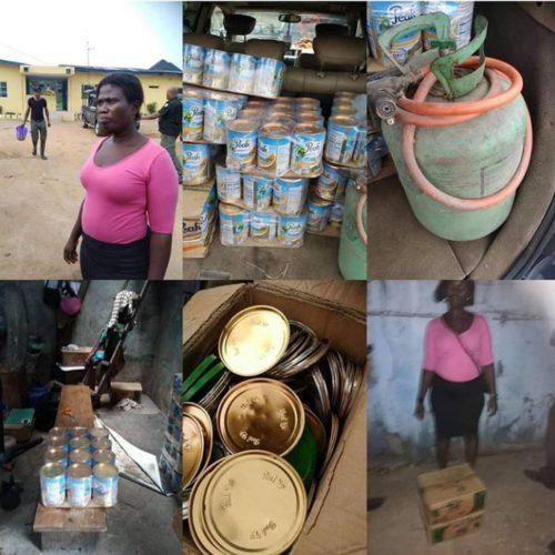 Police Arrests Woman Who Produces Fake Peak Milk