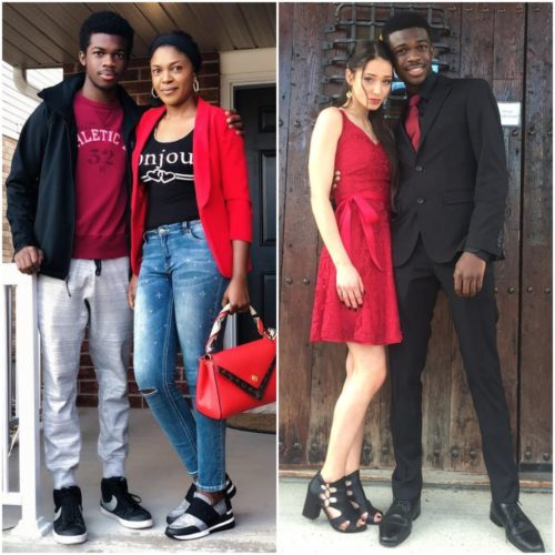#Prom: Omoni Oboli's 17-year-old Son, Tobe Oboli Shows Off His White Girlfriend