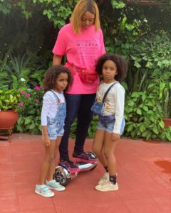 Regina Daniels Poses With Ned Nwoko's Children In New Photos