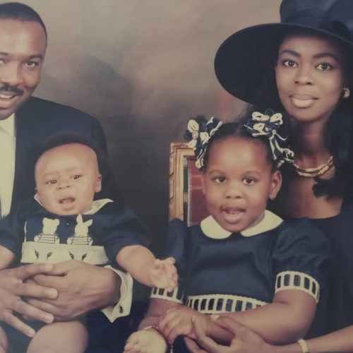 """""""My Hero, My Pillar, My One And Only"""" – Saraki's Wife As She Shares Throwback Photos To Celebrate Father's Day"""