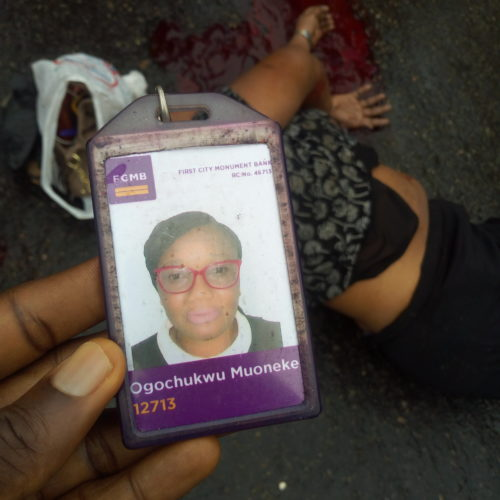 So Sad! Car Crushes Banker To Death Beside BRT Bustop Maryland (Graphic Photos)