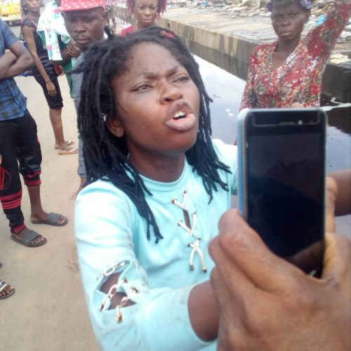 Busted! Lady Trying To Throw Her Baby Away In Lagos Caught