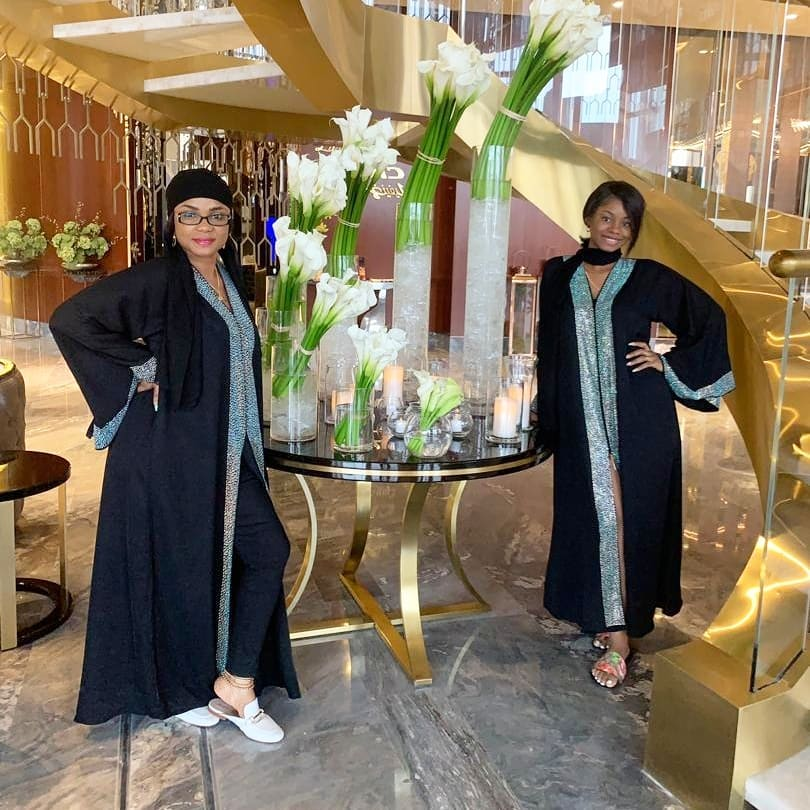 Mother Daughter Goals! Iyabo Ojo And Her Pretty Daughter Rock Matching Outfits In Dubai