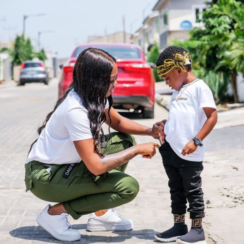So Sweet! Here's What Tiwa Savage Did For Her Son, Jamil On His 4th Birthday