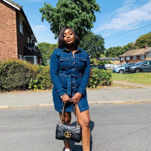 Style Stalking: Bisola Aiyeola Oozes Gorgeousness In Mini Denim Gown