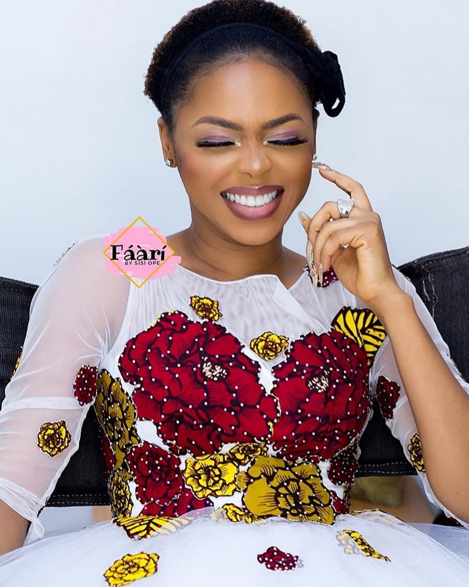 Just Like A Princess! Chidinma Ekile All Smiles As She Rocks Beautiful Floral Dress
