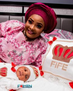 Ronke Odusanya Shares Beautiful Photos From Her Baby's Naming Ceremony…Reveals Her Daughter's Names