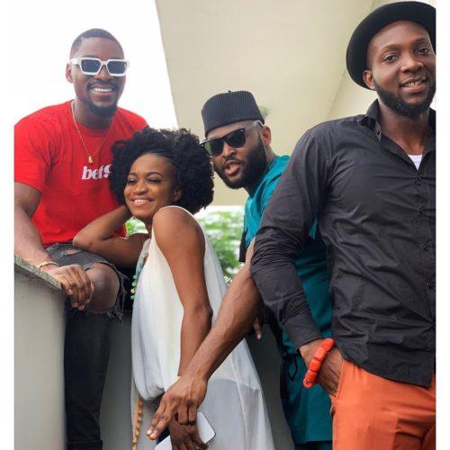 Tobi Bakre Spotted With BB Naija 2019 Ex Housemates, Thelma, Nelson And Tuoyo