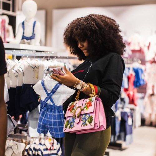#Assurance2019: Chioma Looks Cute As She Goes Shopping For A Baby Boy