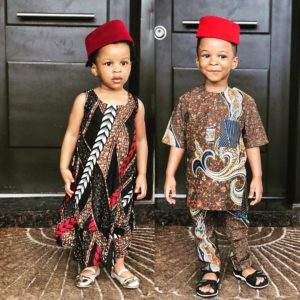 Obinna And Adaobi! Photo Of Paul Okoye's Twin Kids As They Step Out For Cultural Day Is More Than Adorable