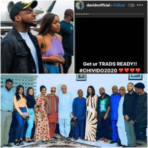 davido and chioma weddding and introduction