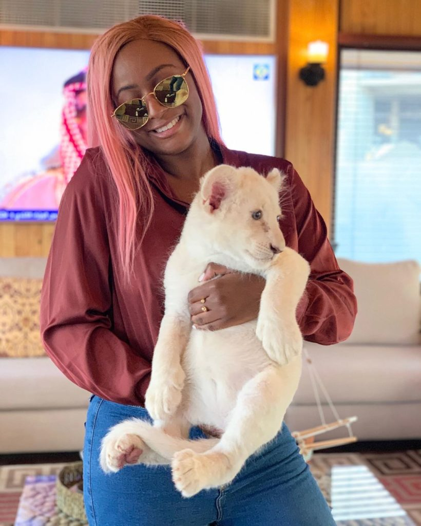 DJ CUPPY AND BABY LION