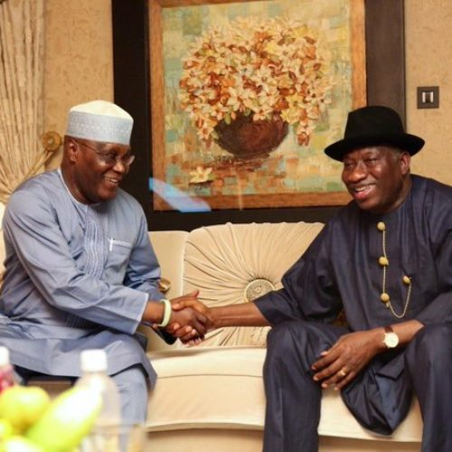 Atiku Celebrates Jonathan At 62, Calls Him 'An Evergreen Face Of Democracy'