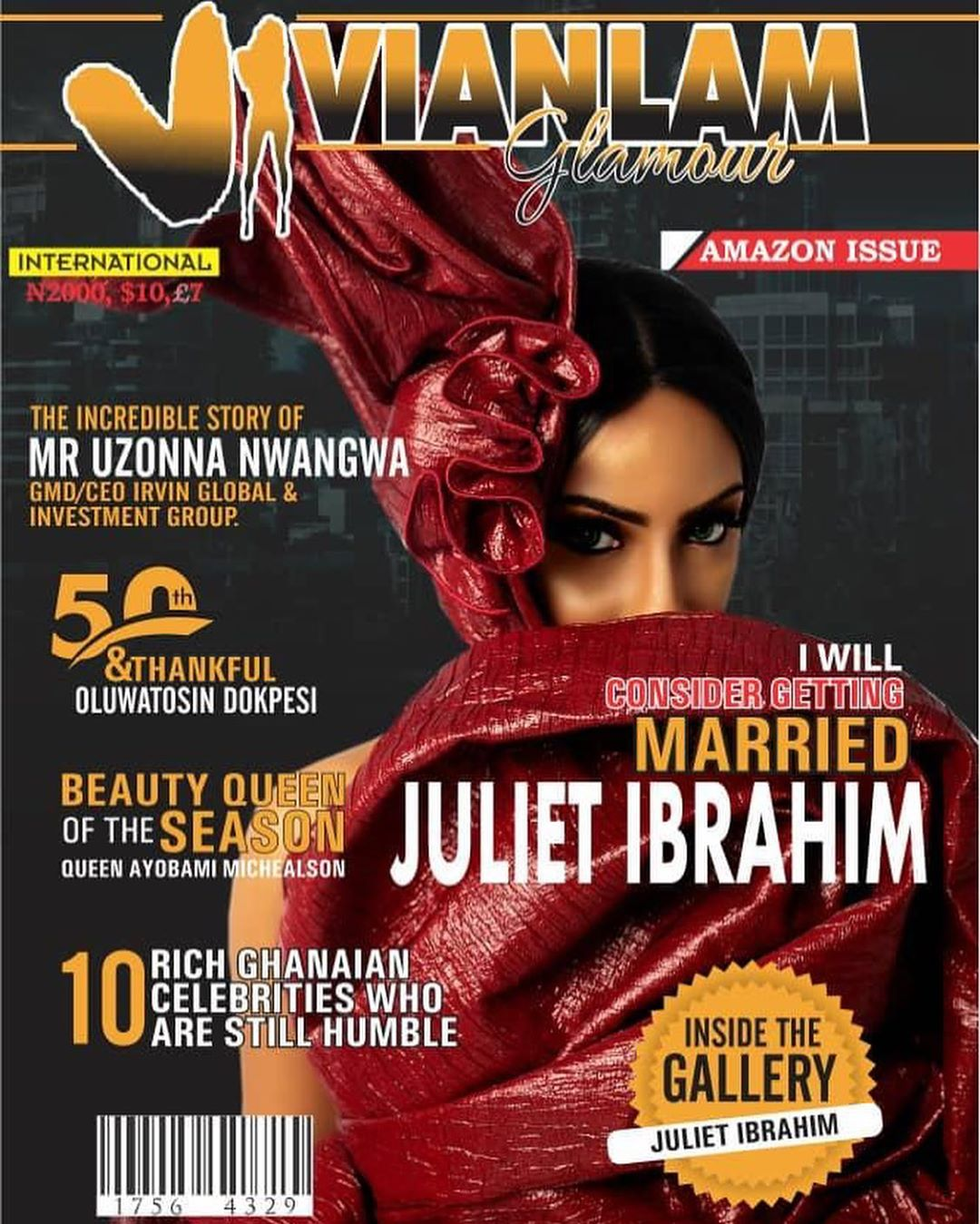 """I Will Consider Getting Married"" – Juliet Ibrahim Covers New Edition Of Vivian Lam Glamour Magazine"