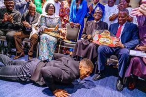 Here's What Fani Kayode Has To Say About Anthony Joshua Prostrating Before Buhari
