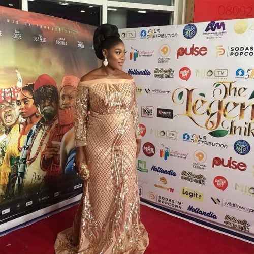 So Cute! Mercy Johnson Shows Off Her Growing Baby Bump In A Long Sequin Gown