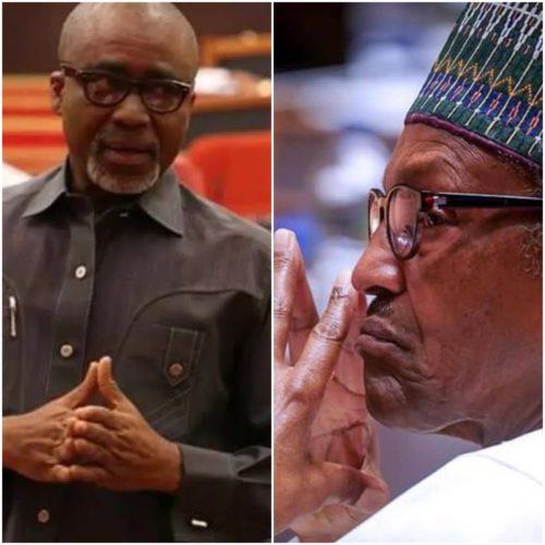 Reactions As Senator Abaribe Calls For Buhari's Resignation