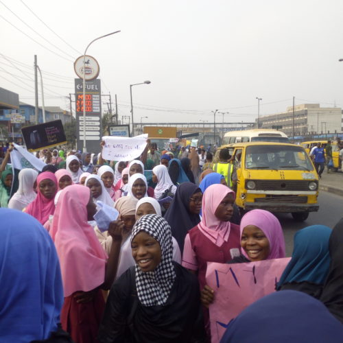 #WorldHijabDay2020: Muslimahs Storm The Streets Of Lagos To Celebrate Hijab Day