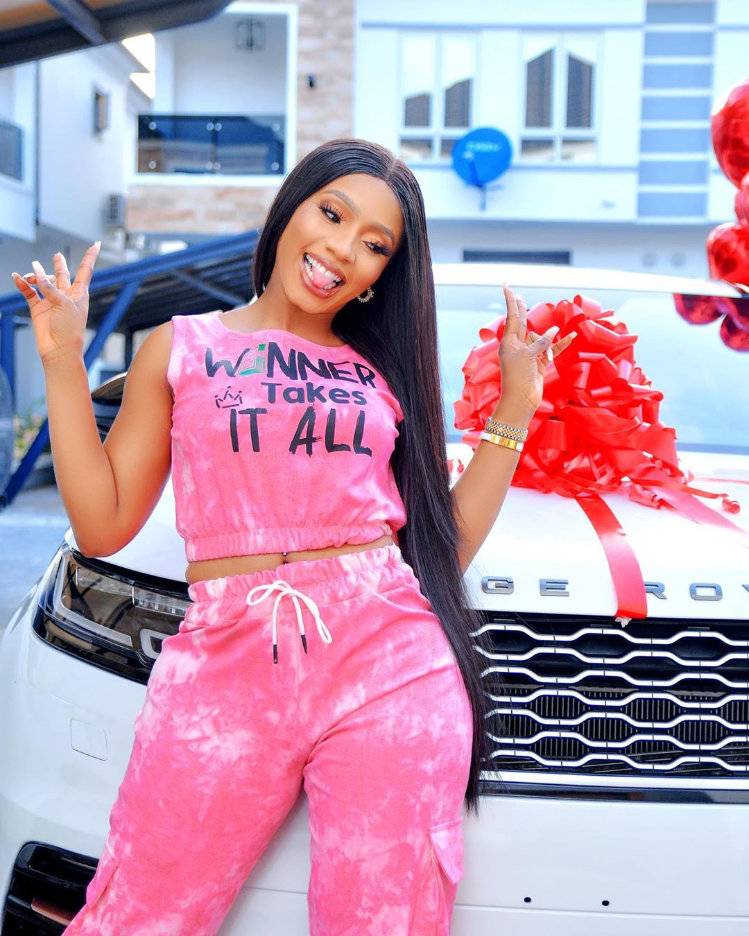 Mercy Eke Buys Herself New Range Rover Velar To Celebrate Her 27th Birthday